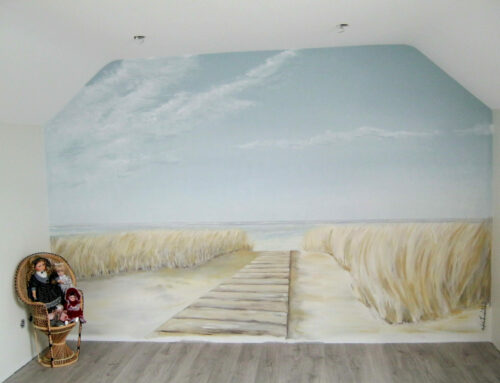 Paysage dans les dunes