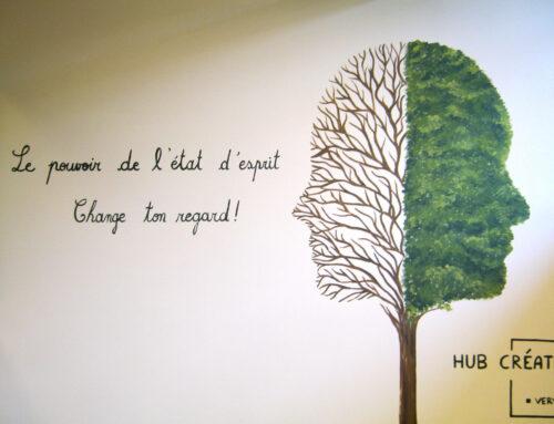 Fresque au HUB Créative de Verviers