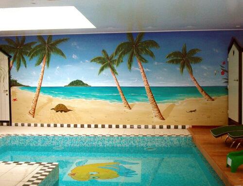 Fresque piscine intérieure